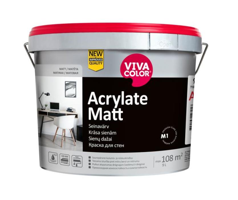 Vivacolor Acrylate Matt 7 A 9L Wearproof wall paint