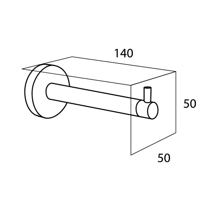 BOSTON spare toilet roll holder