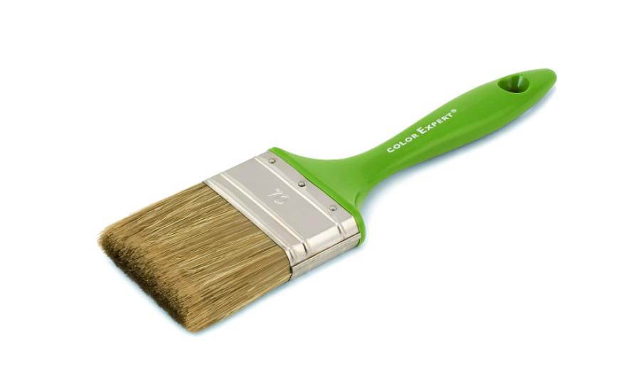 COLOR EXPERT Flat brush 70mm 6rth grade, mixed bristle,lacq.plast.hand.