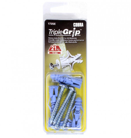 TRIPLE-GRIP zils  5.0mm+ skrūve 4 gab.