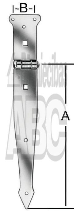 Shutter hinge 250x35mm