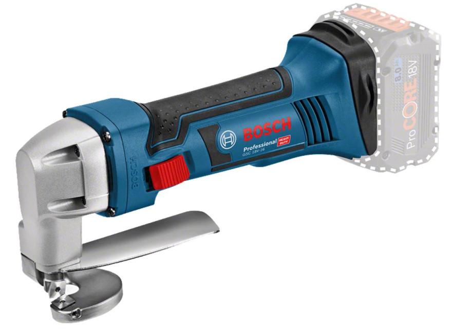 Аккумуляторные ножницы по листовому металлу Bosch GSC 18V-16 Professional