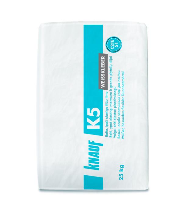 Knauf K5 white elastic tile glue 25kg