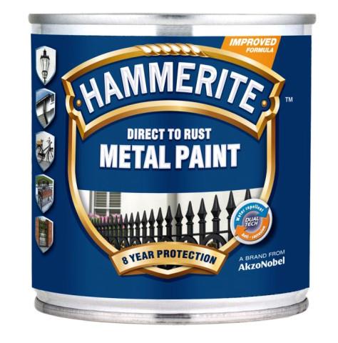 Hammerite SMOOTH Finish  250ml  Sarkana krāsa metālam spīdīga gluda virsma