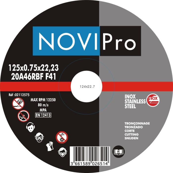 Griezējdisks R/V 125x0.75  Novipro