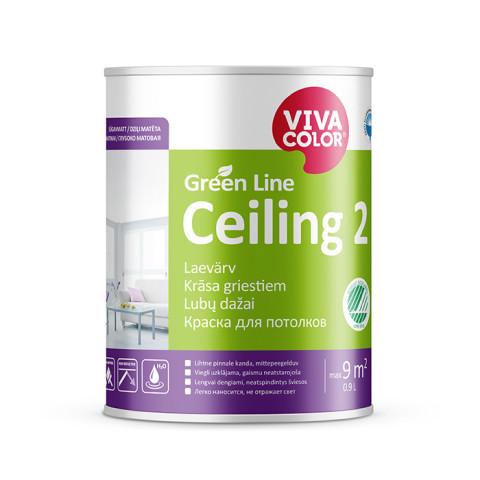 VIVACOLOR GL Ceiling 2 A 0.9L  Dziļi matēta krāsa griestiem Green Line
