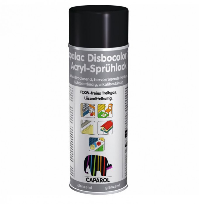 Aerosol paint Capalac Disbocolor781 RAL9005 Acryl-Spruhlack SM 400ml