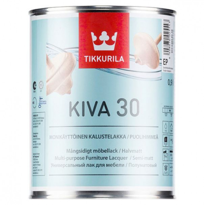 Tikkurila KIVA EP 0.9L Semi-Matt Furniture Lacquer