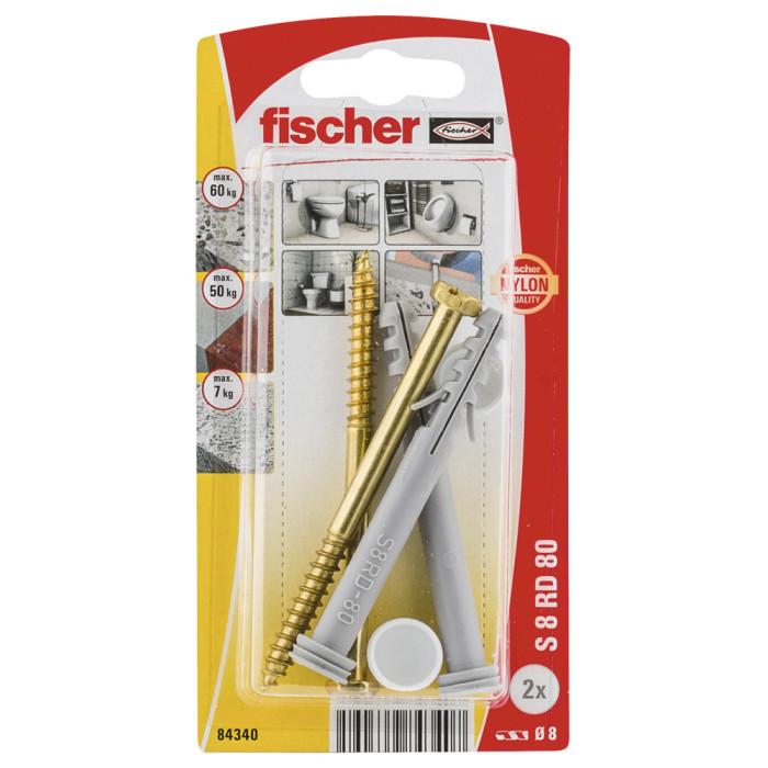 FISCHER Крепление для унитаза S 8x80. 2шт / уп. 84340