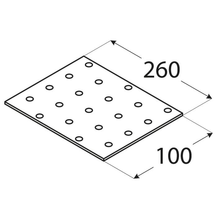 SAVIENOJUMU PLATE  260x100x2.0 mm