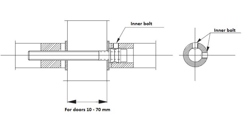 Handle large VALNES 300 70 3 stainless steel, polished