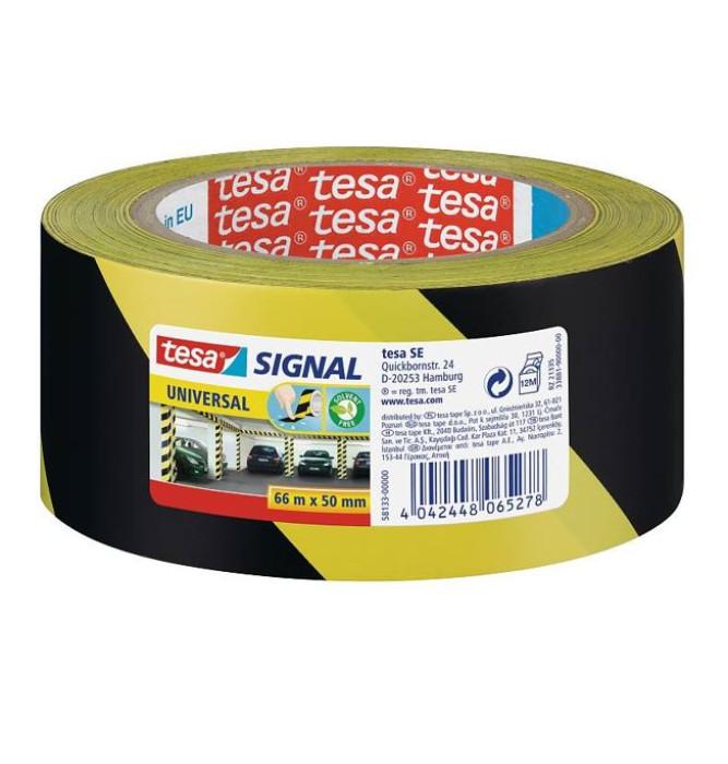 tesa 58133 Signal Universal Tape 66mx50mm Yellow/Black