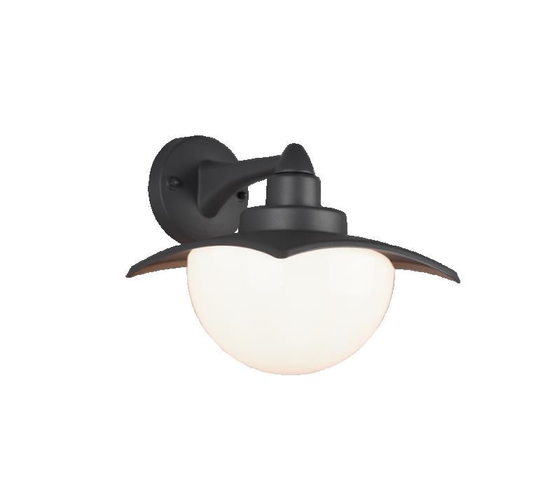 Наружное настенное освещение TRIO Donez 1XE27 max40W IP44 anthracite 204960142
