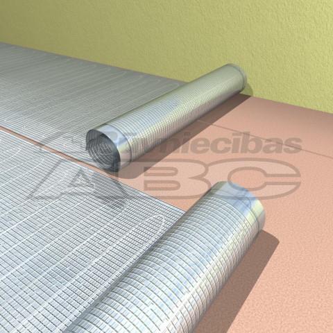 Apsildes paklājs 100W IP67 zem  laminātaa 80W/m2 1.25m 2.5m