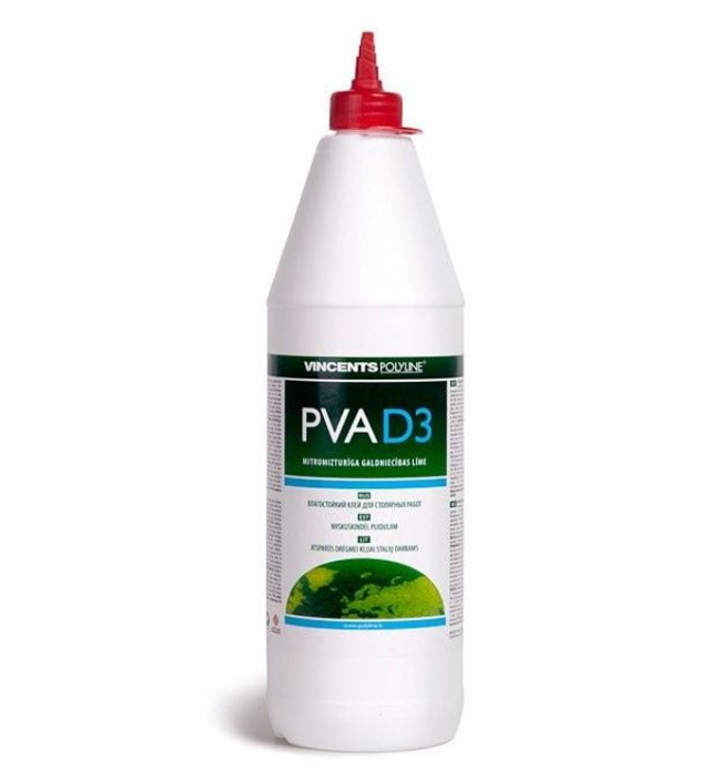 Vincents PVA D3 1kg Moisture resistant adhesive for internal work