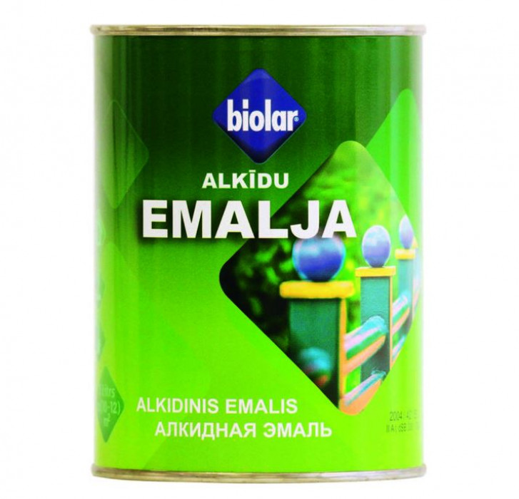 Biolar Alkyd enamel 0.9L  Light Grey Gloss