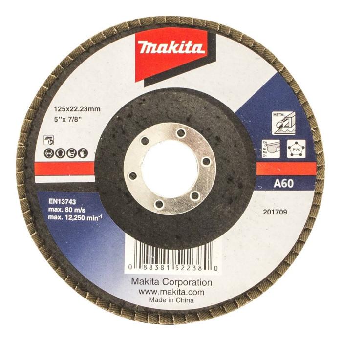 Fan-shaped grinding wheel Makita Economy; 125 mm; A60 D-63482