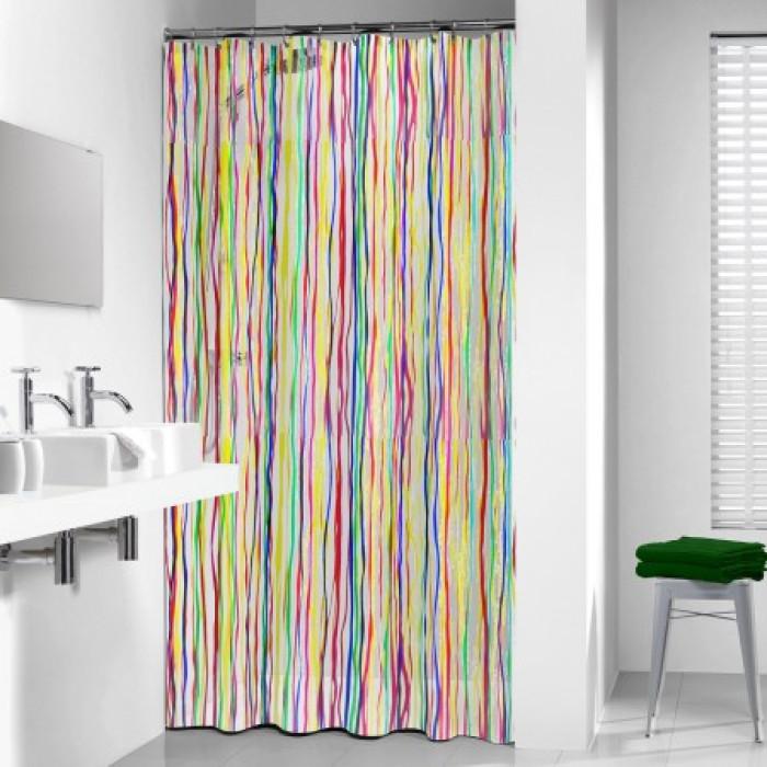 RIGATO shower curtain vinyl, multi, 180x200 cm
