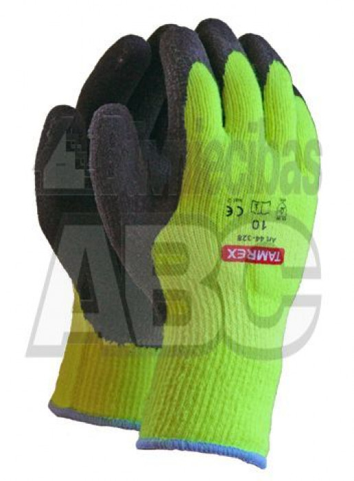 TAMREX warm latex-foam working gloves 9/L