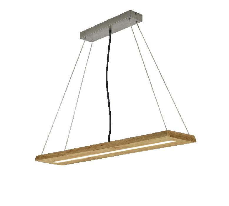 Потолочный светильник TRIO Brad 1XLED SMD 27W 3000Lm 3000K wood 323710130