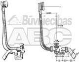 285357 Viega vannas sifons  SIMPLEX ar pacēlājmehānismu