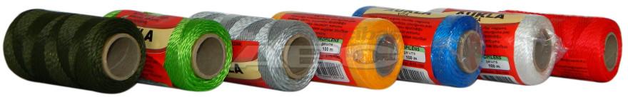Шнур крученый D2,0mm/100m, высокопрочный полипропилен мультифилламент, катушка, разрывная нагрузка 54 кг
