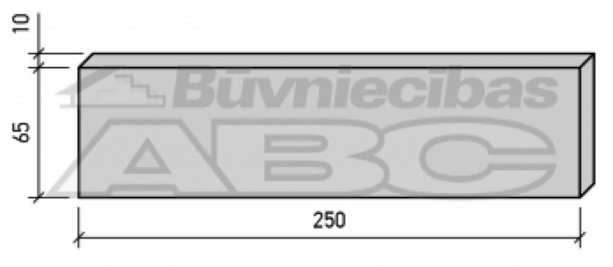 Apdares plāksne 250x10x65 Taurus 50gb/pakā/3000pal/k50p-L