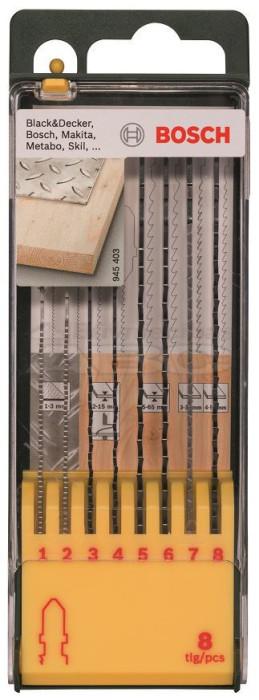Bosch Komplekts figūrzāģu  8-daļas T-kāts