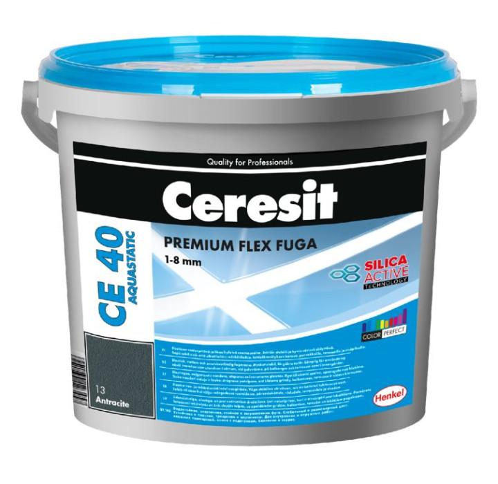 Ceresit CE40 Nr.16 5kg Graphite AQUASTATIC Premium flexible grout