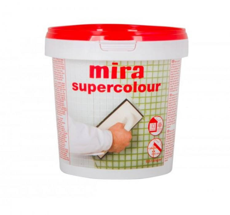 mira SUPERCOLOUR 190 1.2kg  Improved grout filler for ceramics and natural stone (CG2 W A)