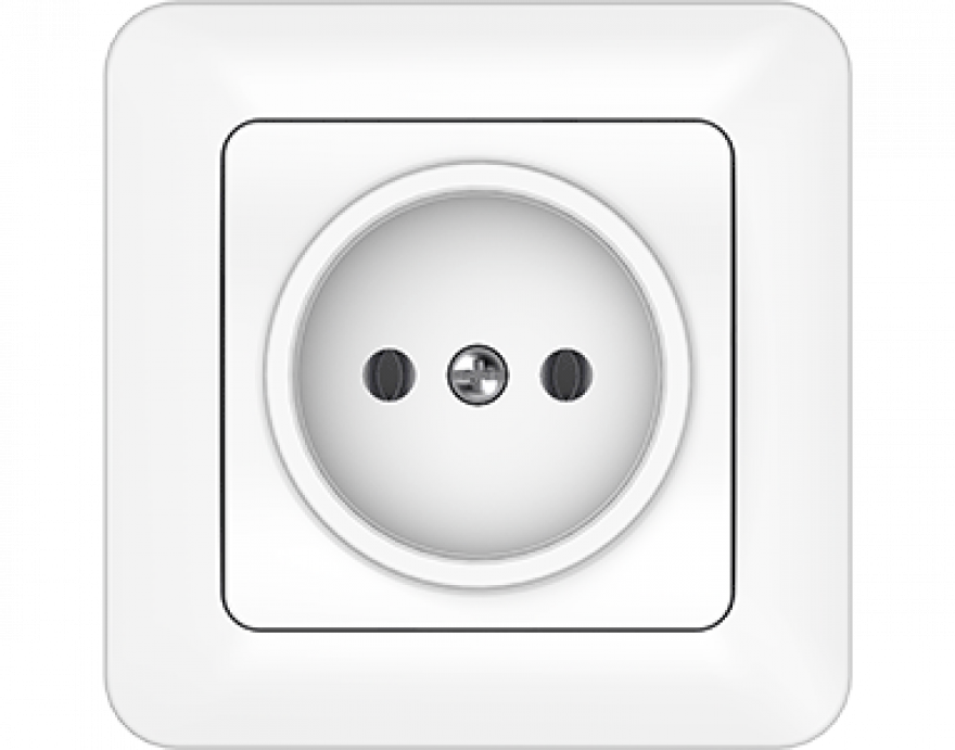 VILMA SL 250 white  socket without side earth with frame