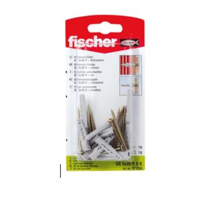 FISCHER UX 5X30 R S dībelis 10gab. (61-3808B)