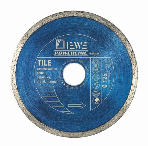Dimanta ripa flīzēm  DIEWE power line 125/22.23