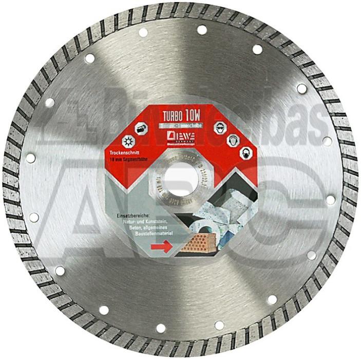 Diamond disc DIEWE TURBO 10W d.230