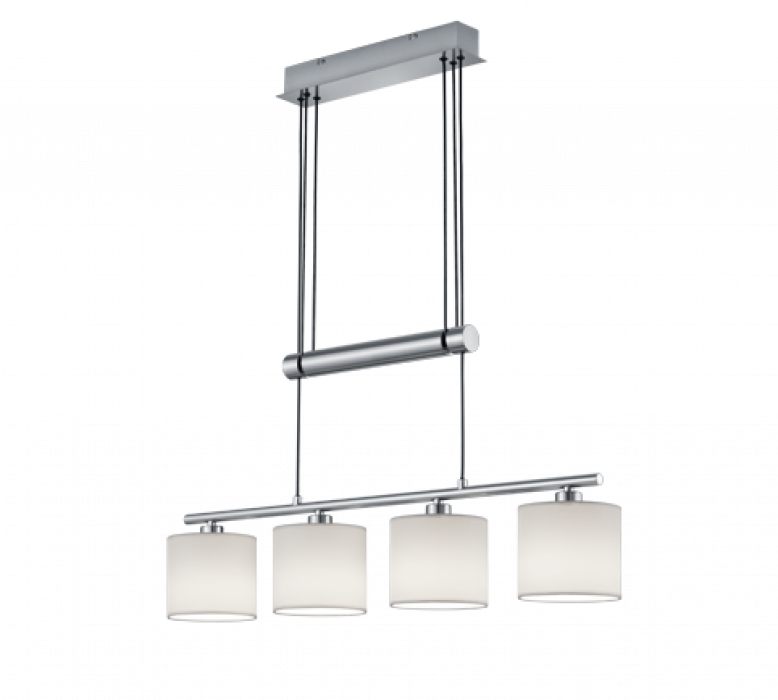 Griestu lampa TRIO Garda 4XE14 max40W nickel 305400401