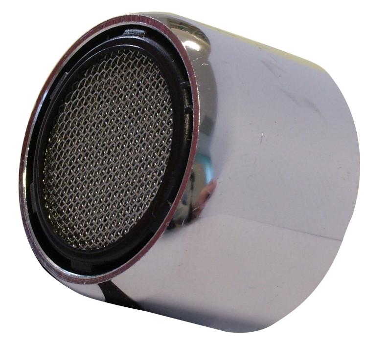 Water saving, chromium-plated aerator