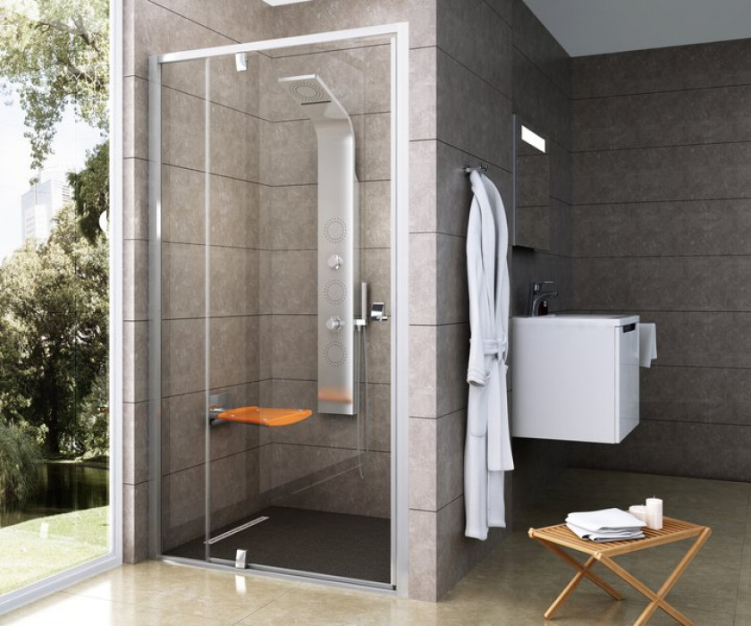 Ravak Dušas durvis PDOP2-110  Satin/Transparent