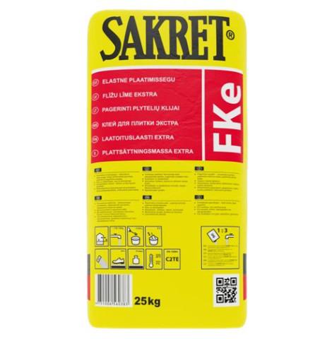 Sakret FKe  5kg  Elastīga flīžu līme (C2TE)