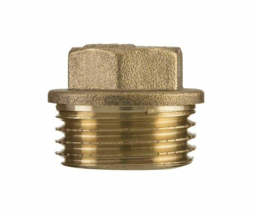 "Brass end plug  1/2"" M"