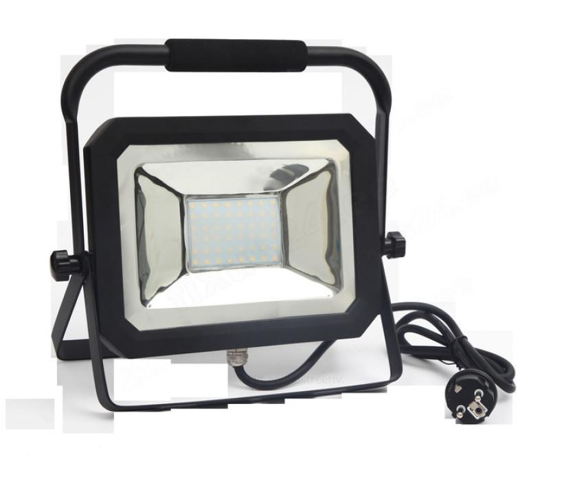 LED prožektors uz statīva 50W 3500Lm IP65 4000K melns