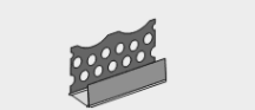 Nobeiguma metāla profils J-13      3m   cinkots