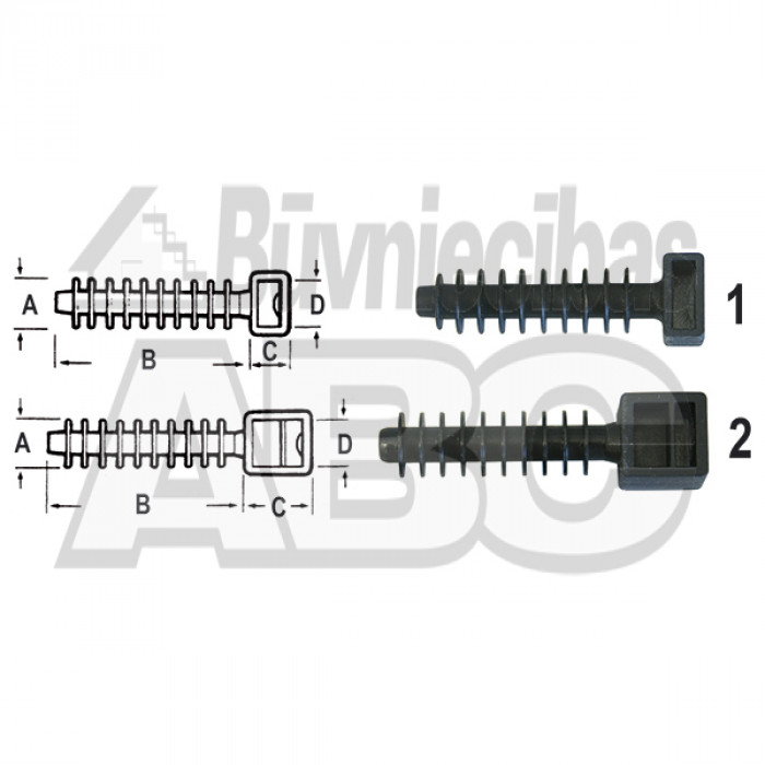 ELEMATIC wal plug base 10mm black