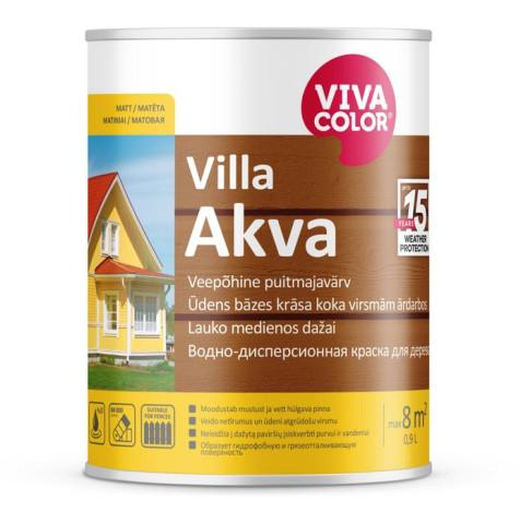 Vivacolor VILLA AKVA C  0.9L  Akrila krāsa koka fasādēm