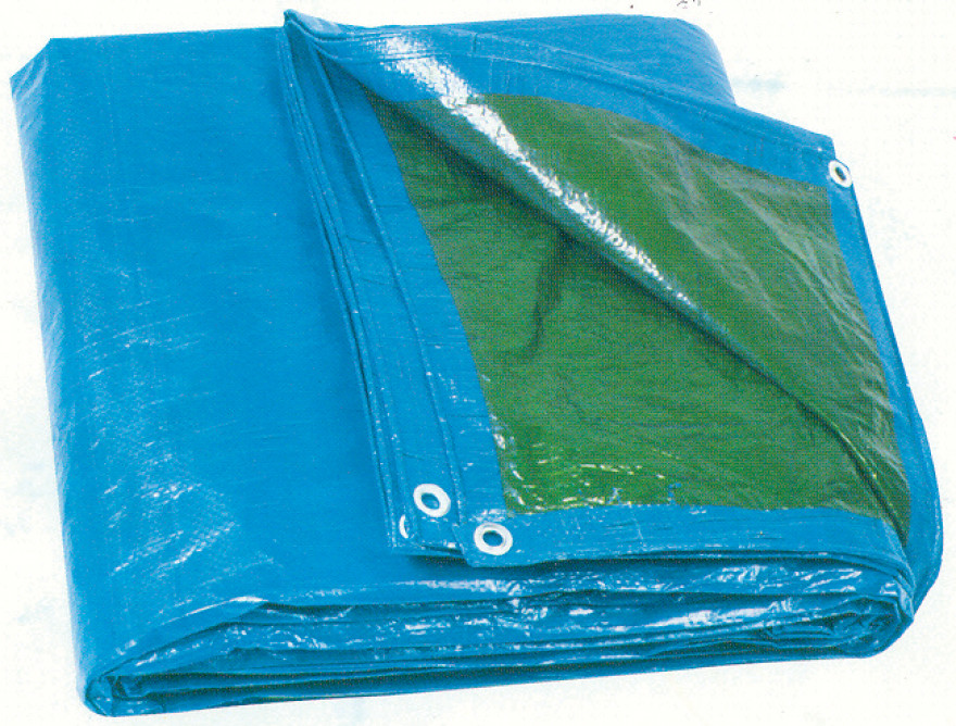 Tents pārklājs 6x10m  75gr/m2 zaļš/zils NOVIPRO