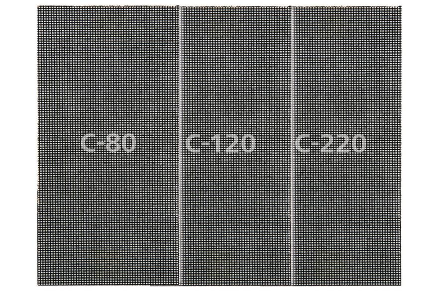 Smilšpapīrs 115x230mm P80/P120/P220, 5gab/iep, WOLFCRAFT 8467000