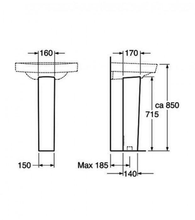GB izlietnes kāja NORDIC/Nautic 2920 balta GB1129200100 Gustavsberg