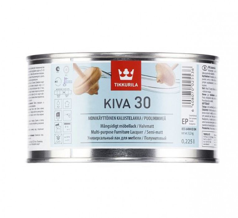 Tikkurila KIVA EP 0.225L Semi-Matt Furniture Lacquer