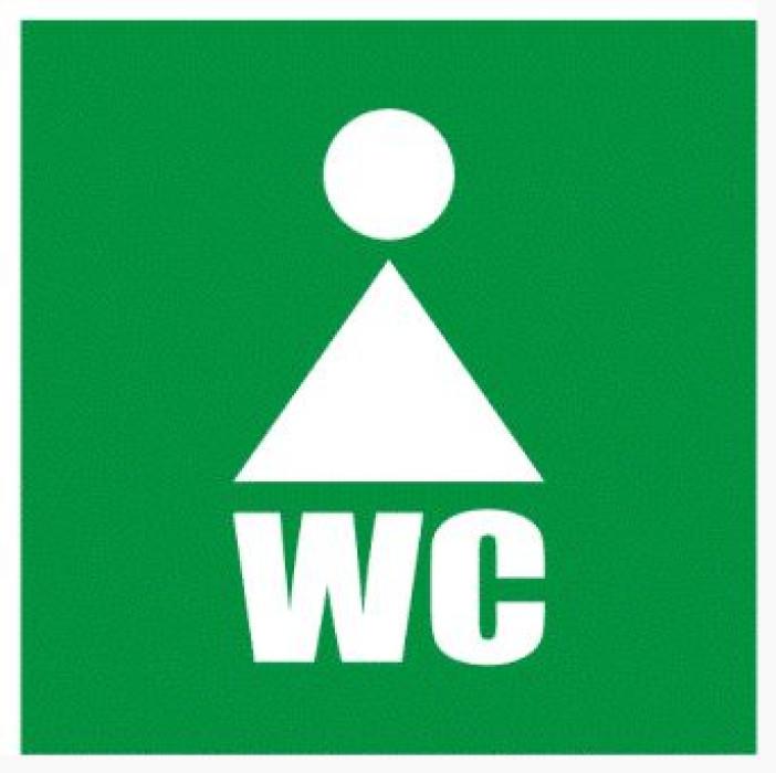 Sign ''WC women'' 10x10cm