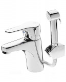 Bathroom sink faucet Nautic With side spray, wall holder and lifting shaft