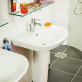 Small bathroom sink Nautic 5550 - for bolt/bracket mounting 50 cm
